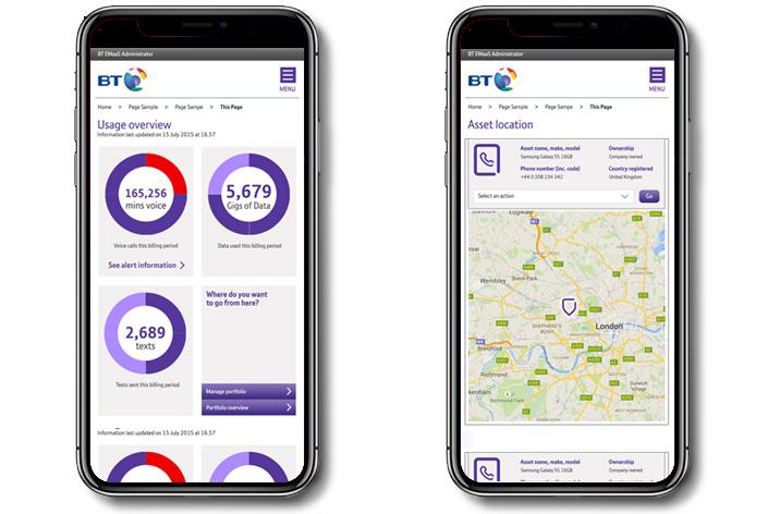 BT Mobile Management UX & Visual Design 4